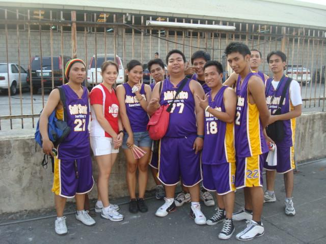 The Violet Yellow Basketball Team