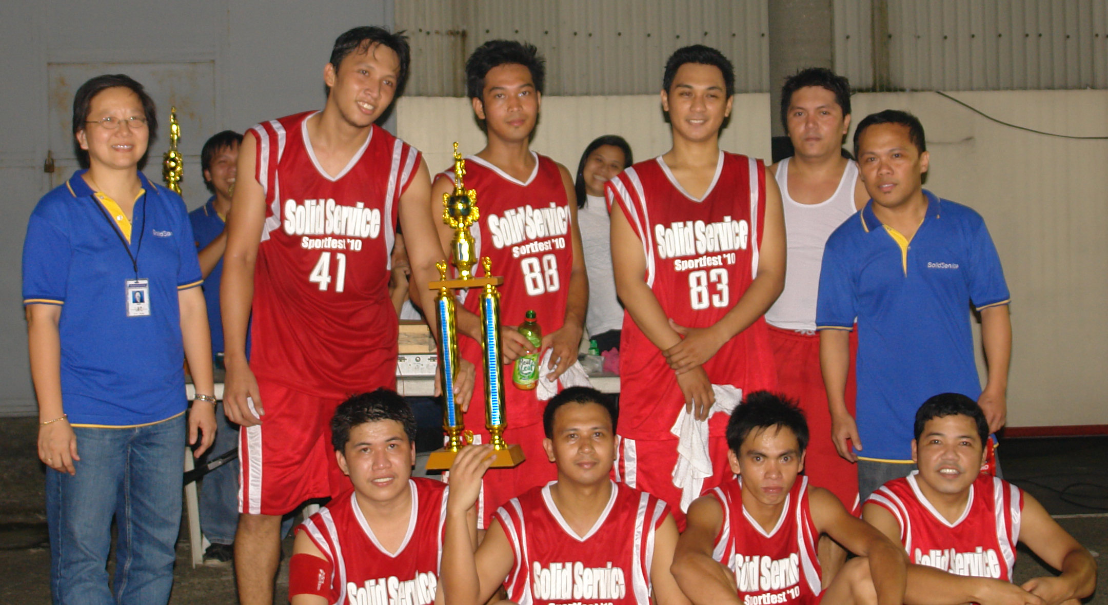 1st PLACE: SOLID - RED & WHITE TEAM -
